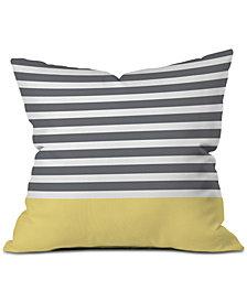Deny Designs Hello Twiggs Elegant Stripes Throw Pillow