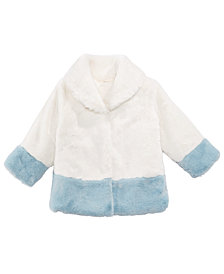 First Impressions Baby Girls Shawl-Collar Faux-Fur Coat, Created for Macy's