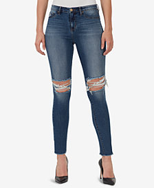 WILLIAM RAST Sculpted Ripped High-Rise Skinny Jeans