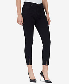 WILLIAM RAST High-Rise Ankle-Zip Skinny Jeans
