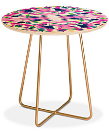 Deny Designs Jacqueline Maldonado Cosmic Connections Multi Round Side Table