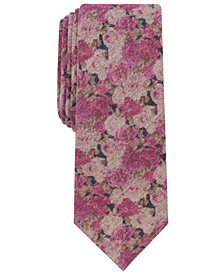 Bar III Men's Nobles Floral Skinny Tie, Created for Macy's