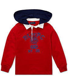 Polo Ralph Lauren Toddler Boys Hooded Cotton Rugby Shirt