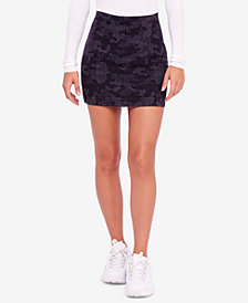 Free People Modern Femme Camouflage-Print Mini Skirt