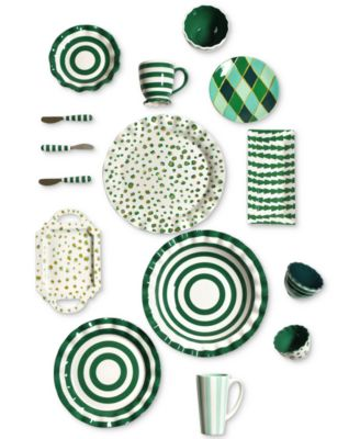 Emerald Collection Spot On Ruffle Emerald Dinner Plate
