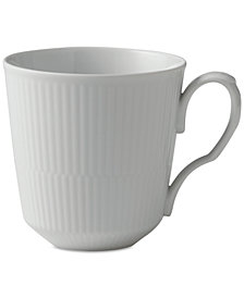 Royal Copenhagen White Fluted Porcelain Latte Mug