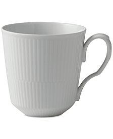 Royal Copenhagen White Fluted Porcelain Latte Mug