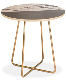 Deny Designs Kelly Haines Gray Round Side Table