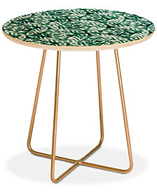 Deny Designs Little Arrow Design Co modern moroccan in emerald Round Side Table