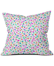 Deny Designs Ninola Design Multicolored Confetti Flowers Throw Pillow
