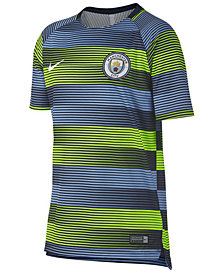 Nike Manchester City Club Team Dry Squad Top GX 2, Big Boys (8-20)