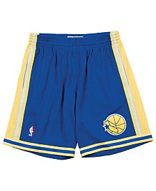 Mitchell & Ness Men's Golden State Warriors Swingman Shorts