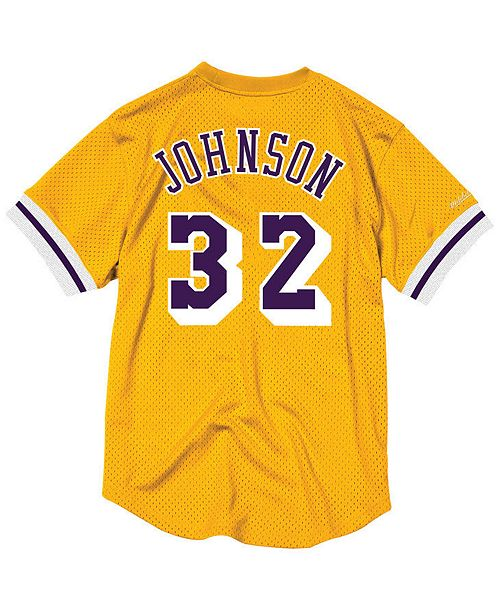 new styles 2a672 5ab06 Mitchell & Ness Men's Magic Johnson Los Angeles Lakers Name ...
