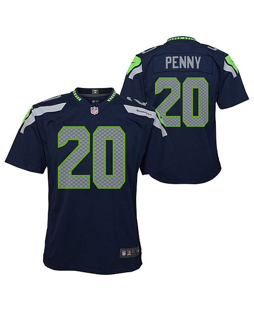 new product 460fc 37d72 Rashaad Penny Seattle Seahawks Game Jersey, Big Boys (8-20)