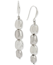 Robert Lee Morris Soho Silver-Tone Bead Linear Drop Earrings