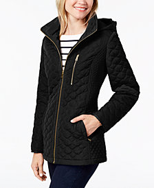Jones New York Petite Quilted Coat