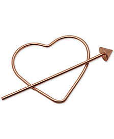 GUESS Rose Gold-Tone Heart & Arrow Hair Pin