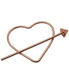 GUESS Rose Gold-Tone Heart & Arrow Hair Pin