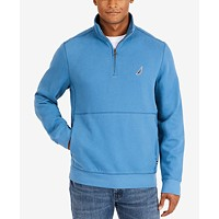 Deals on Nautica Mens Quarter-Zip Fleece Pullover