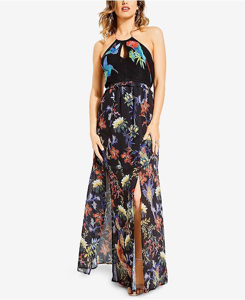 dd1a18a8dda GUESS Birds Of Paradise Halter Maxi Dress   Reviews - Dresses ...
