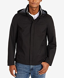 Men's Waterproof Packable Hooded Bomber Jacket