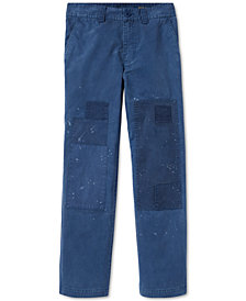 Polo Ralph Lauren Big Boys Distressed Cotton Twill Pants