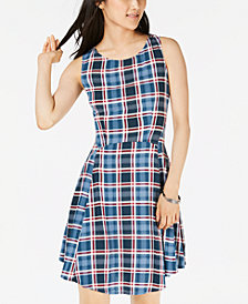 Be Bop Juniors' Printed A-Line Dress