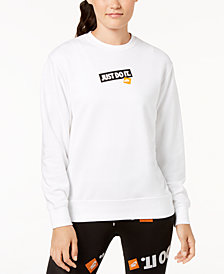 "Nike Sportswear ""Just Do It"" Fleece Sweatshirt"