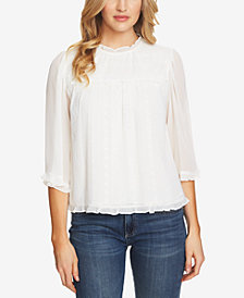 CeCe Cotton Victorian-Style Embroidered Blouse