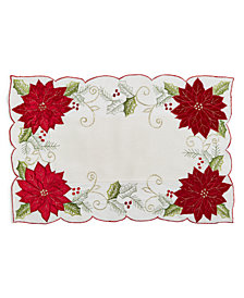 "Homewear Holly Tinsel 13"" x 19"" Placemat"