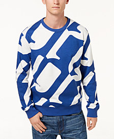 G-Star RAW Men's Hyce Allover Oversized Logo Sweatshirt, Created for Macy's
