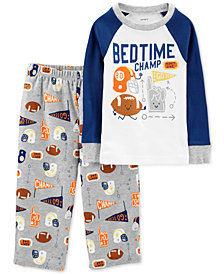 Carter's Toddler Boys 2-Pc. Bedtime Champ Pajama Set