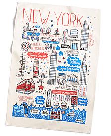 Macy's Exclusive Cityscape Tea Towel Designed For Macys New York By Julia Gash.