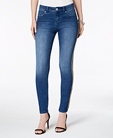 I.N.C. Side-Stripe Skinny Jeans, Created for Macy's