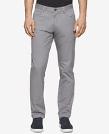 Calvin Klein Men's Sateen Slim-Fit Stretch Pants