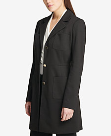 DKNY Three-Button Ponté-Knit Topper Jacket, Created for Macy's