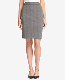 DKNY Herringbone Knit Pencil Skirt, Created for Macy's