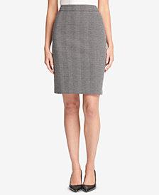 DKNY Herringbone Knit Pencil Skirt, Created for Macy's