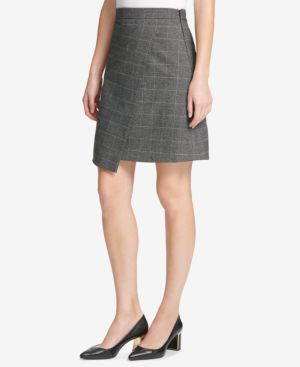 MENSWEAR GRID ASYMMETRIC CROSSOVER SKIRT, CREATED FOR MACY'S