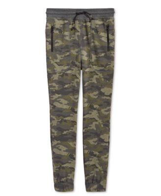 Big Boys Camo-Print Jogger Pants, Created for Macy's
