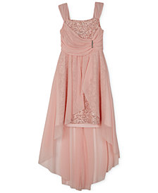 BCX Big Girls Plus High-Low Hem Lace Dress