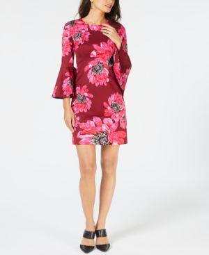 Trina Turk Bell-Sleeve Dress 6635846