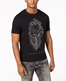 Sean John Men's Lion Flow Graphic T-Shirt