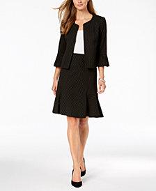 Nine West Ruffle-Sleeve Jacket & Flare Skirt