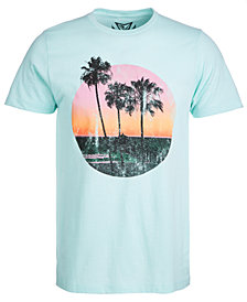 Men's Gold Sunset Graphic T-Shirt