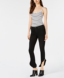 Joe's Icon Ruffled-Hem Ankle Skinny Jeans