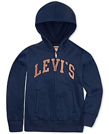 Levi's® Little Girls Full-Zip Logo Hoodie