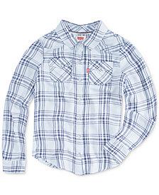 Levi's® Toddler Girls Cotton Plaid Shirt