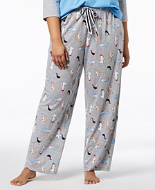 Jenni by Jennifer Moore Plus Size Printed Pajama Pants, Created for Macy's