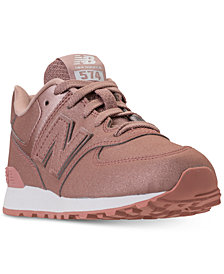 New Balance Little Girls' 574 Glitter Casual Sneakers from Finish Line